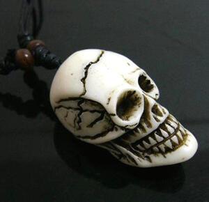 Yak bone dödskallehalsband