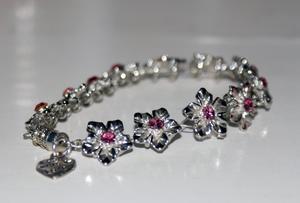 Pink Flowers bracelet