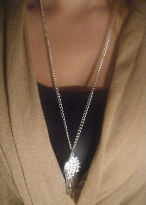Oversize wing necklace